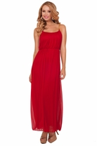 Chain Straps Greek Goddess Inspired Empire Waist Chiffon Evening Long Maxi Dress