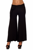 Chic Low Waist Wide Leg Gaucho Boho Bohemian Elephant Flare Loose-fit Long Pants