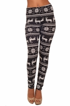Cozy High Waisted Long Legged Skinny Printed Trendy Stretch Casual Knit Leggings
