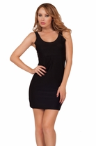 Dress Slip Baby Doll Fitted Slip On Stretchy Full Slip Cami Mini Bodycon