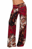 Elephant Trouser Bell Bottom Printed Design Long Loose Wide Leg Pants
