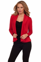 Fitted Long Sleeves Open Style Waist Length Casual Chic Shrug Cardigan Bolero
