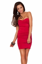 Fitted Strapless Sweetheart Formal Evening Cocktail Party Clubwear Mini Dress