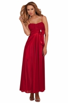 Full Length Maxi Party Elegant Formal Pleated Bustier Sweetheart Neckline Dress