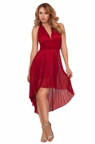 Halter Empire Waist Marilyn Monroe Pleated Formal Sexy Elegant Party Dress