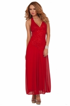 Halter Maxi Glitter Goddess Sheer Special Occassion Full Length Party Dress