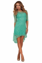 High Low Fitted Cocktail Sleeves Elegant Classic Romantic Lace Bodycon Dress