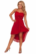 High Low Hem Knee Length Sweet Homecoming Special Occasion Empire Waist Dress