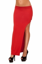 High Waist Soft Waist Band Maxi Fitted Mini High Slit Long Trendy Party Skirt