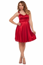Homecoming Sweet Flowy Bridesmaid Sleeveless Cocktail Elegant Formal Party Dress