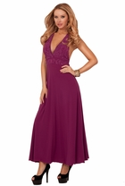 Hot Halter Beaded Embellished Backless Elegant Formal Homecoming Gown Maxi Dress