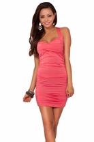Hot Sexy Sleeveless Sweetheart X-strap Clubwear Fitted Cocktail Party Mini Dress