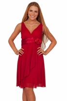 Junior Deep Prom Adjustable Halter Empire Waist Bridesmaid Party Short Dress