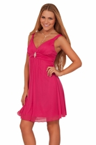 Junior Sleeveless Empire Waist Homecoming Rhinestone Formal Cocktail Dress