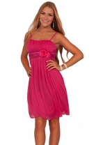 Junior Sleeveless Pleated Elegant Spaghetti Strap Evening Prom Chic Mini Dress