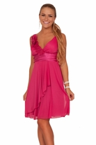 Junior Sleeveless Satin Mesh Sheer Design Formal Evening Prom Teen Party Dress