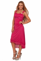 Junior Sleeveless Sheer Ruched Empire Formal Bridesmaids Evening Party Dress