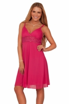 Junior V-neck Spaghetti Strap Padded Empire Waist Homecoming Prom Elegant Dress