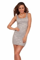 Lace Sequins Fitted Bodycon New Year Formal Party Mini Sexy Cocktail Dress