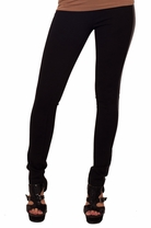 Leatherette Panel Comfortable Trendy Fashion Tights Fitted Pants Leggings