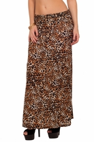 Long Full Length Leopard Maxi Sexy Fitted Causal Sweet Season Trend Style Skirt