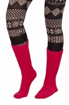 Long Fuzzy Warm Winter Fun Holiday Gift Idea Stretchy Loose Knit Socks