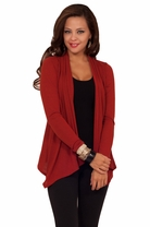 Long Sleeve Fitted Waist Length Stretch Bolero Shrug Casual Cardigan Sweater