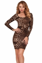 Long Sleeve Sexy Midi Bodycon Party Classy Open Back Stylish Midi Sweater Dress