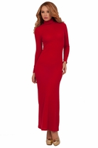 Long Sweater Turtleneck Jersey Full Length Beautiful Slim Fitting Holiday Dress