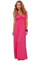 Maxi Boho Summer Halter Triangle Backless Empire Waist Beach Summer Maxi Dress