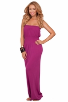 Maxi Cover Up Drop-waist Boho Beach Strapless Empire Long Casual Sundress Dress