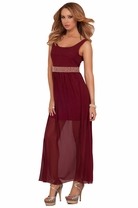 Maxi Layered Pearl Beaded Empire Waist Party Cocktail Formal Evening Sexy Dress