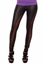 Mesh Panel Sexy Comfortable Fashion Tights Fitted Pants Trendy Leggings