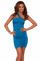 Mini Fitted Sexy Off Shoulder Sleeve Fitted Ruched Club Party Short Dress
