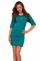 Mini Tight Sexy Wrapped Keyhole Cut Out Club Wear Simple Party Slinky Dress