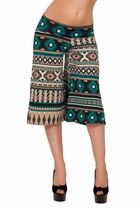 Palazzo Guacho Printed Capri Wideleg Trendy Style Elephant Knee High Pants