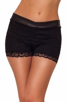 Posh Elegant Sexy Fitted Chic Lace Layered Sophisticated Party Casual Shorts