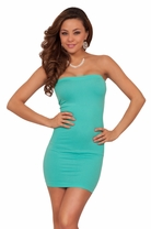 Seamless Sexy Strapless Tube Fitted Beach Casual Day Mini Dress