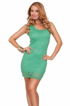Semi Cap Sleeve Scoop Neck Keyhole Back Lace Fitted Cocktail Party Short Dress