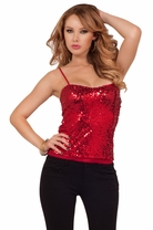 Sequin Sexy Sweetheart Special Occassion Club Sleeveless Fitted Party Top