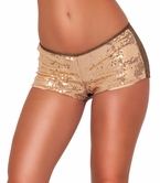 Sequins Bootie Chic Flirty Dazzling Embellished Hot Pants Boyfriend Party Shorts
