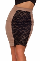 Sexy Fitted Cocktail Sleeves Elegant Classic Romantic Midi Lace Bodycon Skirt