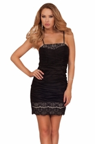 Sexy Lace Panel Crochet Cocktail Formal Mini Fitted Sweetheart Homecoming Dress