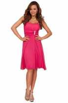 Sexy Short Flowy Beaded Bust Formal Homecoming Cocktail Bridesmaid Dress