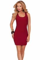 Sexy Sleeveless Scoop Neck X-strap Back Club Party Cocktail Mini Short Dress