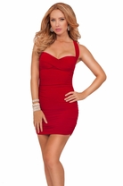 Sexy Sleeveless Sweetheart X-strap Clubwear Fitted Cocktail Party Mini Dress