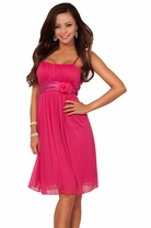 Sheer Spaghetti Strap Floral Layer Evening Bridesmaid Sexy Party Cocktail Dress