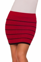 Shimmer Striped Mini Bandage Party Cocktail Sexy Fitted Bodycon Tight Skirt