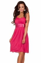 Sleeveless Rhinestone Empire Waist Sheer Layer Evening Bridesmaid Party Dress