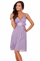 Sleeveless Sheer Layer V Neck Evening Bridesmaid Sexy Prom Party Cocktail Dress